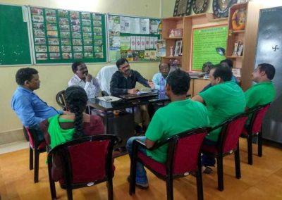 Senior Scientist & Head examining DAESI trainees of the district